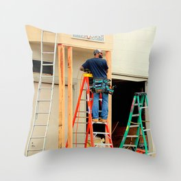 The Ladder Of Choice Throw Pillow