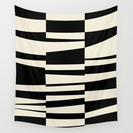 BW Oddities II - Black and White Mid Century Modern Geometric Abstract Wall Tapestry