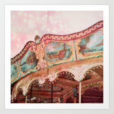 I Heart my Carousel Art Print