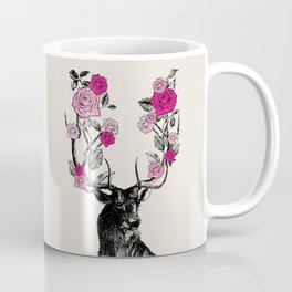 The Stag and Roses | Pink Coffee Mug