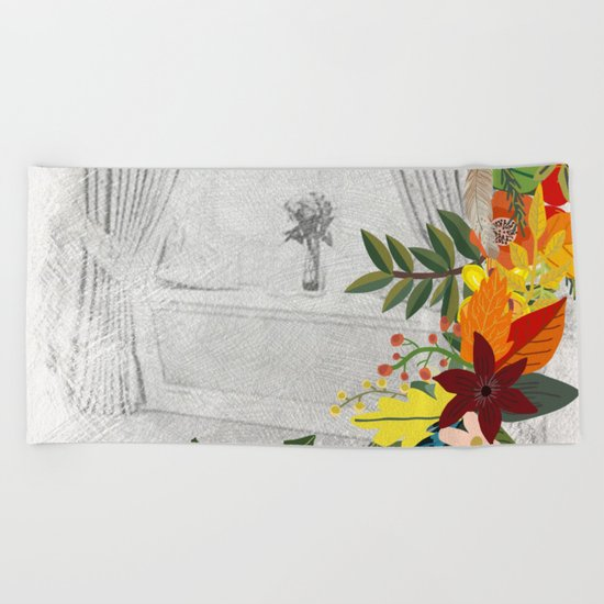 Flowers bouquet #14 Beach Towel