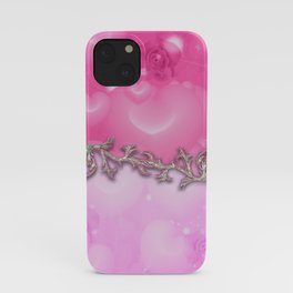Wonderful roses with hearts iPhone Case