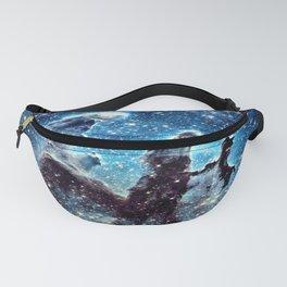 Pillars of Creation Nebula: Ocean Blue Galaxy Fanny Pack