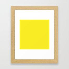 Lemon Yellow Solid Color Framed Art Print