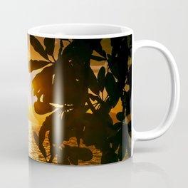 Golden Tahiti Sunset Behind Island Coffee Mug