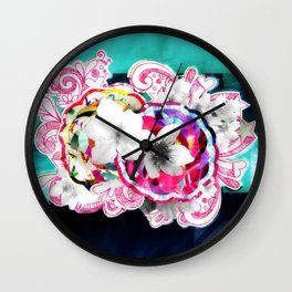 Cerejeira (Cherry - Prunus cerasus) Wall Clock