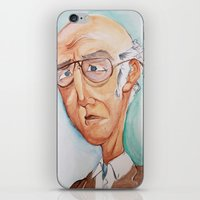 larry david iPhone & iPod Skins featuring King Larry David by Kendall Sudduth
