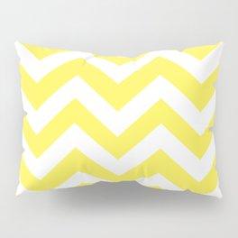 Lemon yellow - yellow color - Zigzag Chevron Pattern Pillow Sham