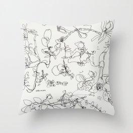 Botanical Bold Throw Pillow