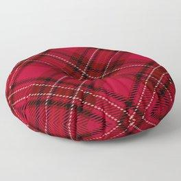 Red tartan Floor Pillow