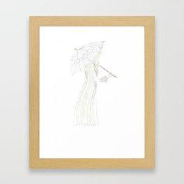 jessamine with her parasol Framed Art Print