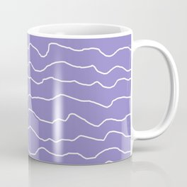 Lavender with White Squiggly Lines Coffee Mug