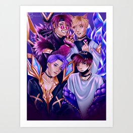 BTSxKDA Crossover Art Print
