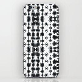Shibori Ikat Habotoi BW iPhone Skin