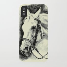 Horse-portrait iPhone Case
