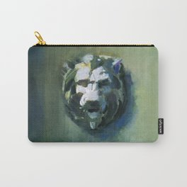 Lion Head Green Marble Carry-All Pouch