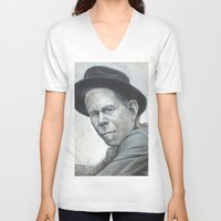 tom waits V-neck T-shirts featuring Tom Waits by Lars-Erik Robinson