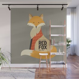 Hello Red Fox Wall Mural