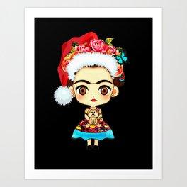 Frida Christmas Art Print