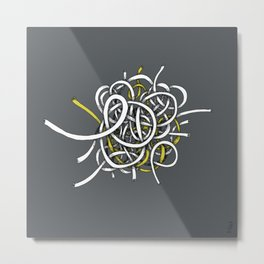 wire ball - yellow Metal Print