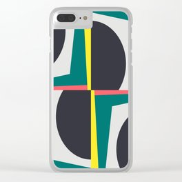 Modern Geometric 65 Green Clear iPhone Case