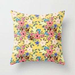 Stylish garden floral design Throw Pillow