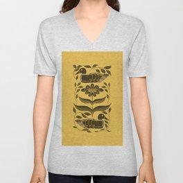 Duck Decoy Folk Art Silhouette Unisex V-Neck