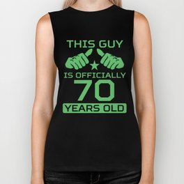 This Guy Is Officially 70 Years Old 70th Birthday Biker Tank