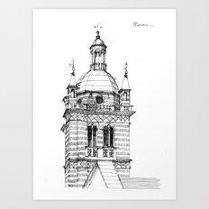 Campanile della  cattedrale di Genova Art Print