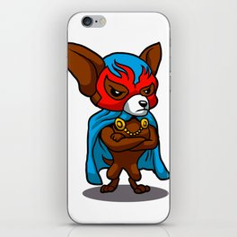 Cute dog chihuahua Fighter Lucha Libre iPhone Skin