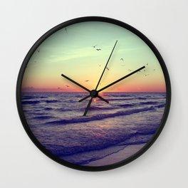 Siesta Key Sunset Wall Clock