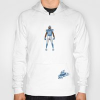 calvin and hobbes Hoodies featuring One Pride - Calvin Johnson by IllSports