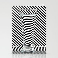 striped Stationery Cards featuring Striped Water by Steve Purnell
