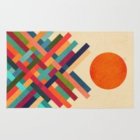 sun Area & Throw Rugs featuring Sun Shrine by Picomodi