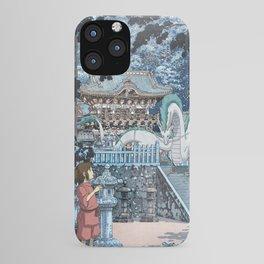 Haku and Chihiro at the Shrine iPhone Case