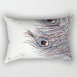 BOHO PEACOCK FEATHER Rectangular Pillow