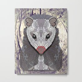 Ornate Opossum Metal Print