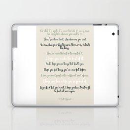 For what it's worth by F Scott Fitzgerald 2 #minimalism #poem Laptop & iPad Skin