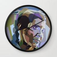 princess leia Wall Clocks featuring Leia by iankingart