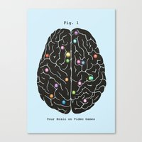 games Canvas Prints featuring Your Brain On Video Games by Terry Fan