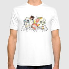 Death Do Us Part Mens Fitted Tee White MEDIUM
