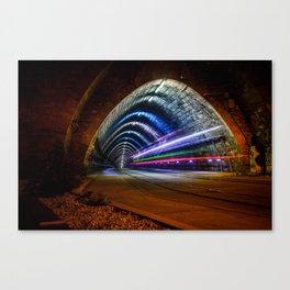 A tram tunnel in Bratislava, Slovakia Canvas Print