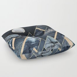 Stormy Mountains Floor Pillow