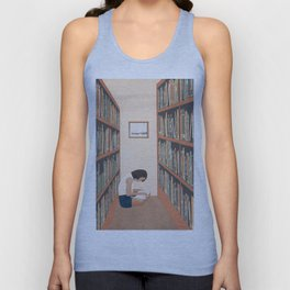 Getting Lost in a Book Unisex Tank Top