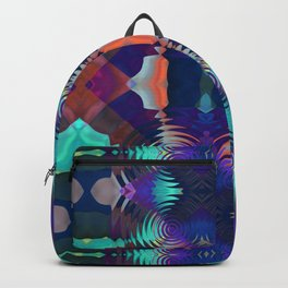 Abstract Patchwork Backpack