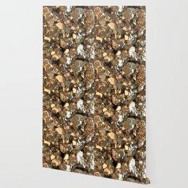 Golden Pyrite Mineral Wallpaper
