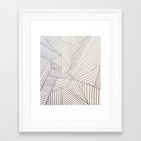 stripe Framed Art Prints featuring stripe by HooVeHee