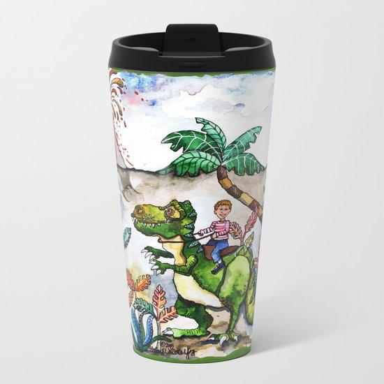 Dinosaur Rider Metal Travel Mug