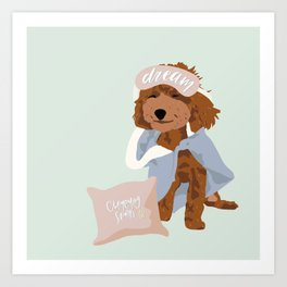 Hoku the Poodle - Dreaming of a Slumber Party Art Print
