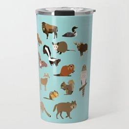 North American Animals Travel Mug